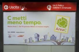 MILANO: DAL 16 GENNAIO 2012 ENTRERA' IN VIGORE -AREA C- SOSTITUIRA' ECOPASS