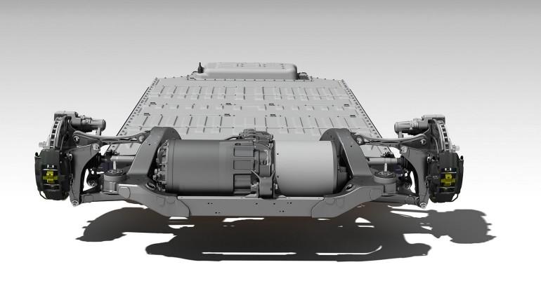Tesla full electric powertrain