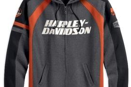 HD_Bar&Shield Logo hoodie (front)