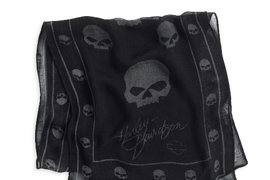 HD_Allover Skull Print Scarf