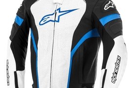 Alpinestars GP Plus Perforated Leather Jacket_black_white_blue