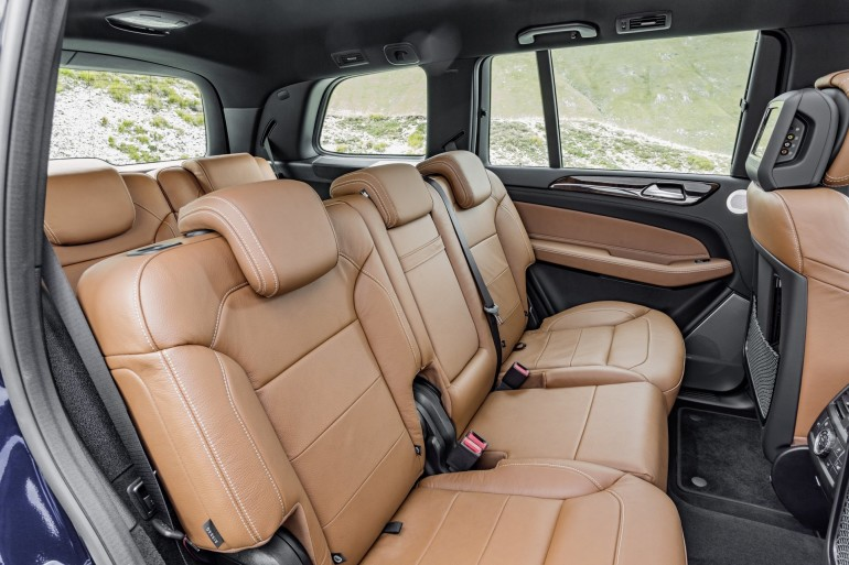 GLS 350 d 4MATIC, Interieur: Leder sattelbraun/schwarz, interior: leather saddle brown,