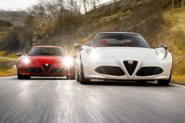 2016 Alfa Romeo 4C (left) and Alfa Romeo 4C Spider (right)