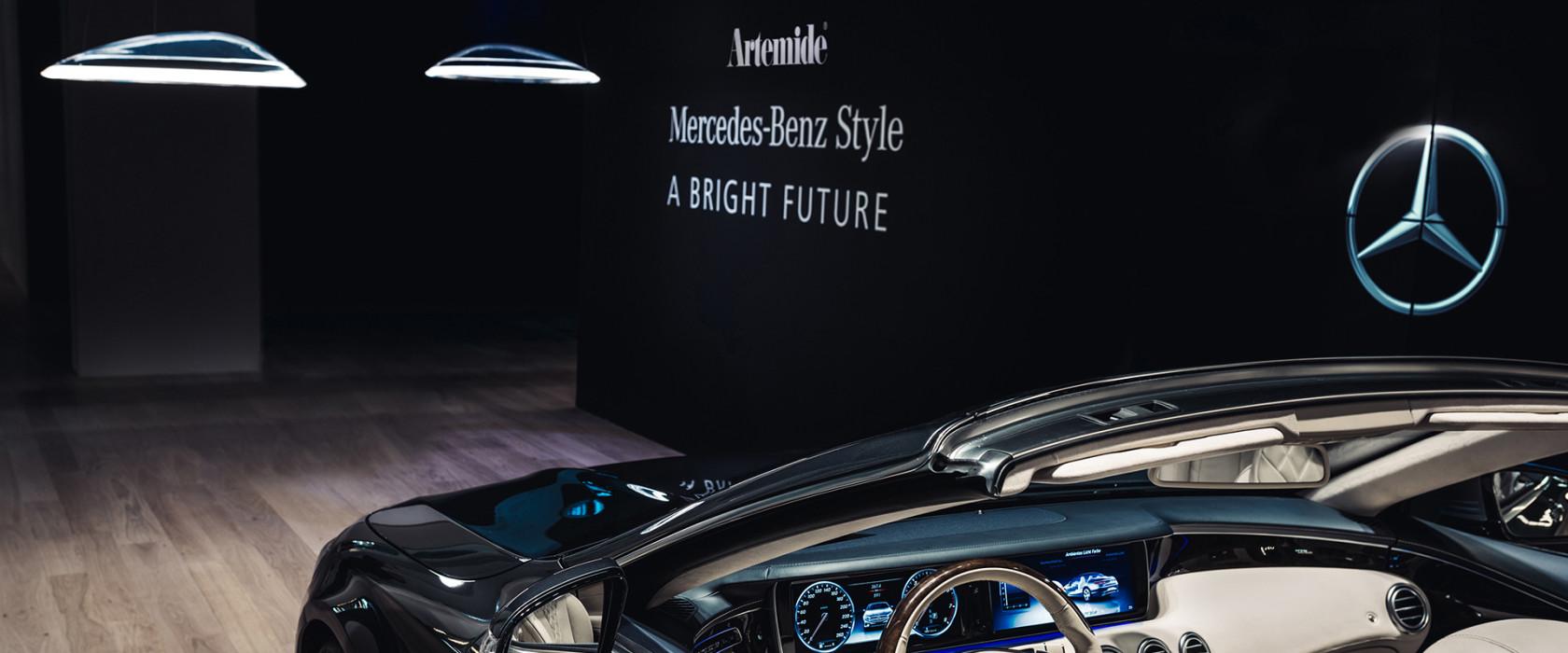 """Mercedes-Benz und Artemide präsentieren ihr erstes gemeinsames Produkt: Die """"Ameluna """" Pendelleuchte  Mercedes-Benz and Artemide present their first joint product: the """"Ameluna"""" pendant lamp"""