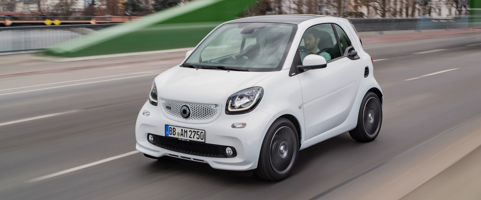 smart BRABUS fortwo coupé, 2016, white