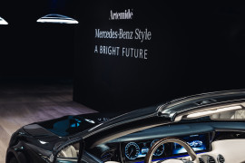 "Mercedes-Benz und Artemide präsentieren ihr erstes gemeinsames Produkt: Die ""Ameluna "" Pendelleuchte  Mercedes-Benz and Artemide present their first joint product: the ""Ameluna"" pendant lamp"