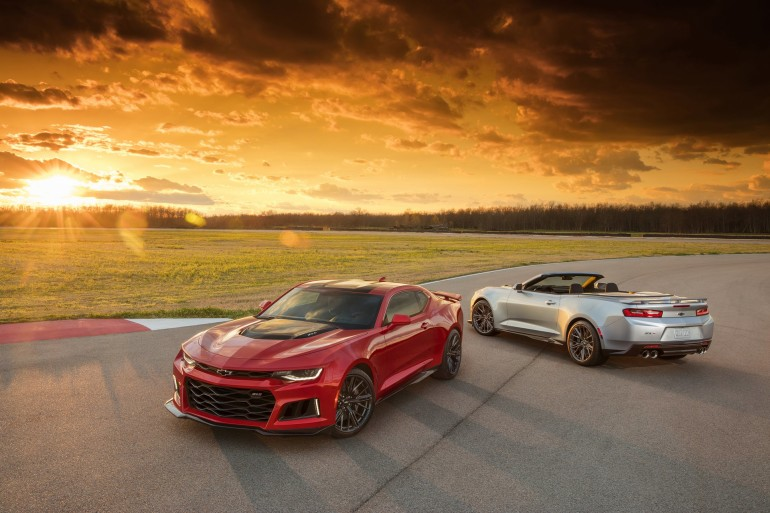 The 2017 Camaro ZL1 is poised to challenge the most advanced performance cars in the world in any measure – with unprecedented levels of technology, refinement, track capability and straight-line acceleration. A cohesive suite of performance technologies tailors ZL1's performance, featuring an updated Magnetic Ride suspension, Performance Traction Management, electronic limited-slip differential, Custom Launch Control and Driver Mode Selector. The ZL1 Convertible's modular underbody bracing provides the same sharp, nimble handling as the coupe, while its fully automatic top can be raised or lowered with a single button while driving up to 30 mph, or lowered remotely with the keyfob.