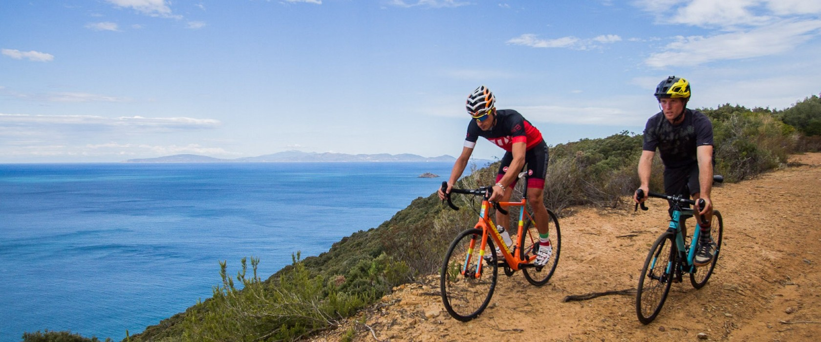Secluded gravel roads and hidden bays along the way. The Gravel Road Challenge course covers some of the best of Punta Ala's nearby terrain.