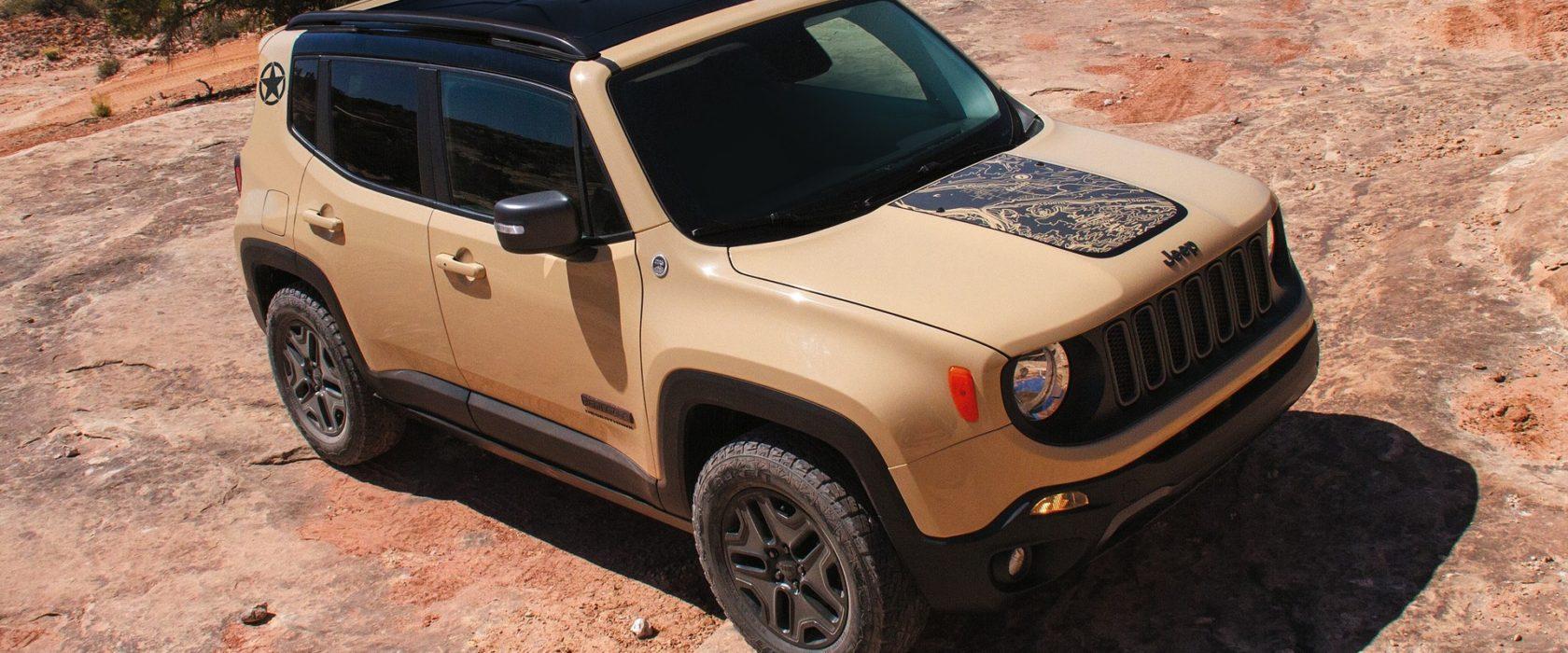 jeep renegade desert hawk ecco il prezzo red live. Black Bedroom Furniture Sets. Home Design Ideas