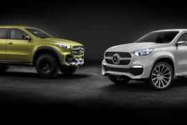 Mercedes-Benz Concept X-CLASS stylish explorer (rechts) und Mercedes-Benz Concept X-CLASS powerful adventurer (links) ;  Mercedes-Benz Concept X-CLASS stylish explorer (right) and Mercedes-Benz Concept X-CLASS powerful adventurer (left);