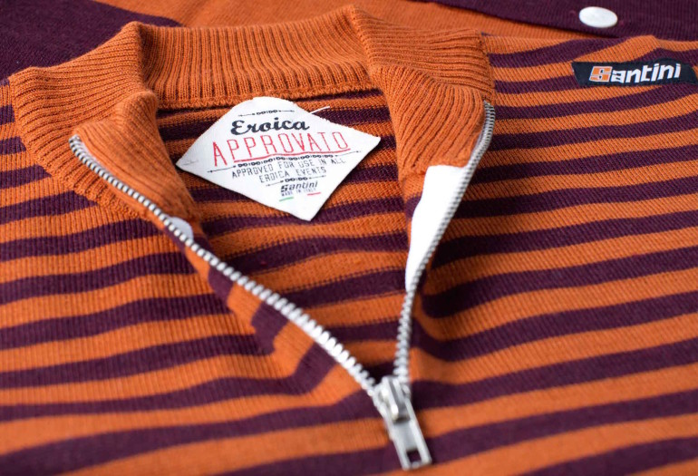 SANTINI_Eroica_Gaiole jersey detail