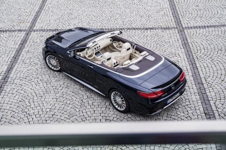 Mercedes-AMG S 65 Cabrio, Exterieur: Anthrazithblau,Interieur: Leder Porzellan exterior: anthracite blue, interior: leather porcelaine