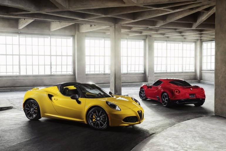 2016 Alfa Romeo 4C Spider (foreground) and 4C (background)