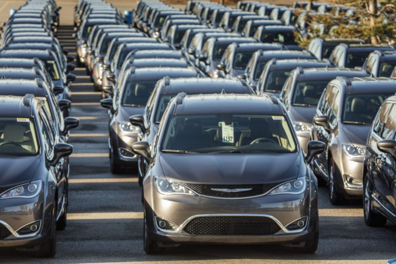 More than 200 dealers gathered at the Palace of Auburn Hills (Mich.) to deliver the all-new 2017 Chrysler Pacifica to dealerships across Michigan, Ohio, Indiana and Kentucky, April 27, 2016.