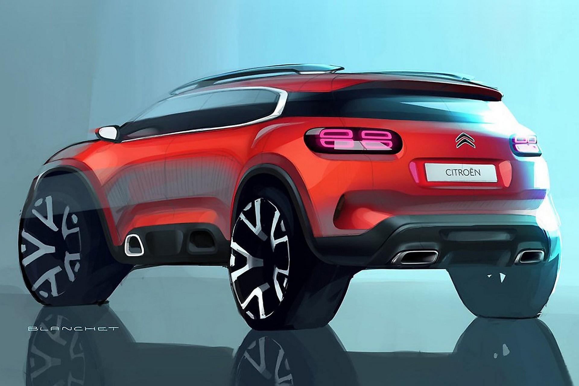citro n c5 aircross la nuova crossover francese arriva nel 2018. Black Bedroom Furniture Sets. Home Design Ideas