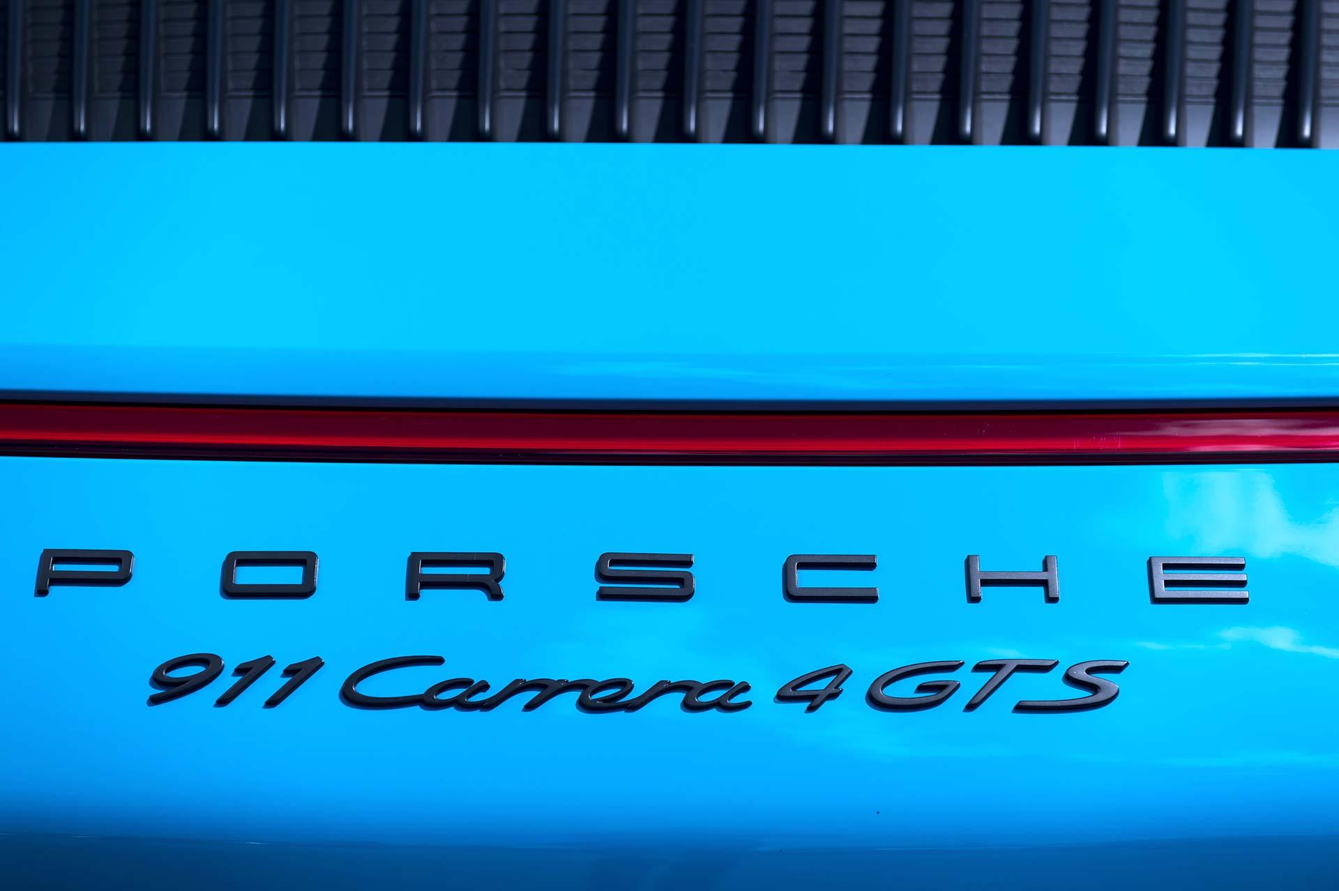 Porsche 911 GTS dettaglio posteriore