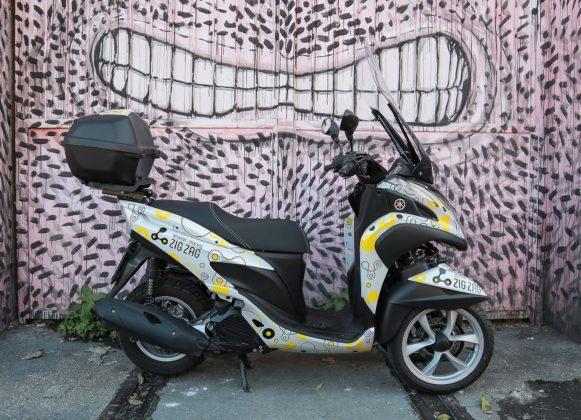 Yamaha Zig Zag Scooter Sharing-Murales