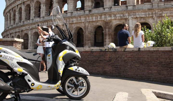Yamaha Zig Zag Scooter Sharing - Colosseo
