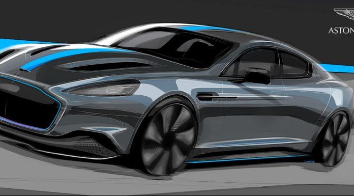 Aston Martin RapidE disegno