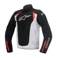 Giacca da moto Alpinestars AST Air bianca e nera con inserti rossi
