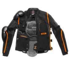Giacca da moto Spidi Tech Armor Evo nera con inserti arancioni