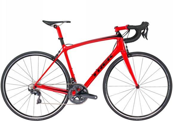 bicicletta Trek Emonda 2018 rossa, gruppo ultegra, vista laterale