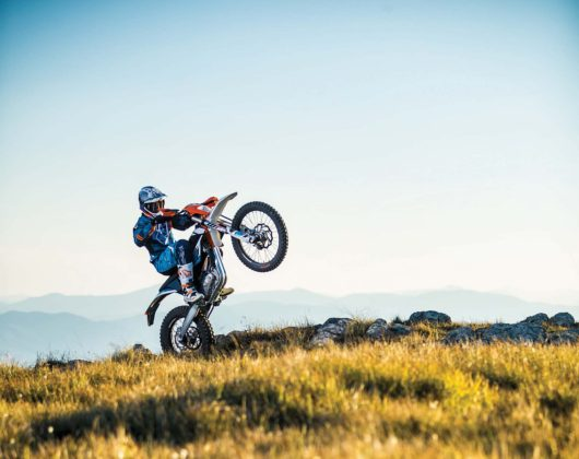 KTM Freeride E-XC - wheelie