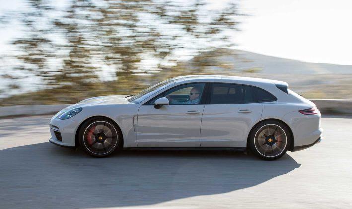 Porsche Panamera Sport Turismo movimento laterale