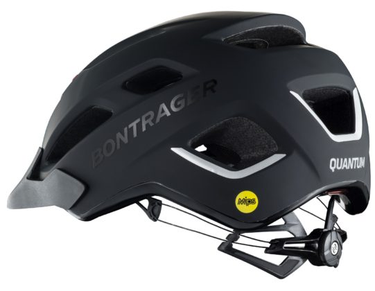 casco bici bontrager quantum mips, nero, still life posteriore