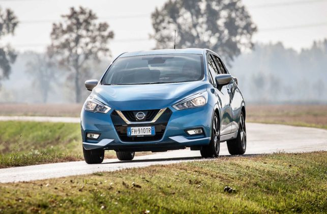 Nissan Micra IGT N-Connecta blu frontale