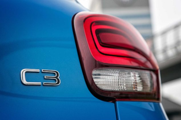 Citroen C3 1600 Hdi blu faro posteriore