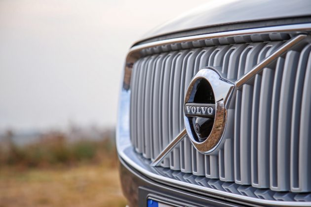 Volvo XC90 D5 Grigia dettaglio mascherina
