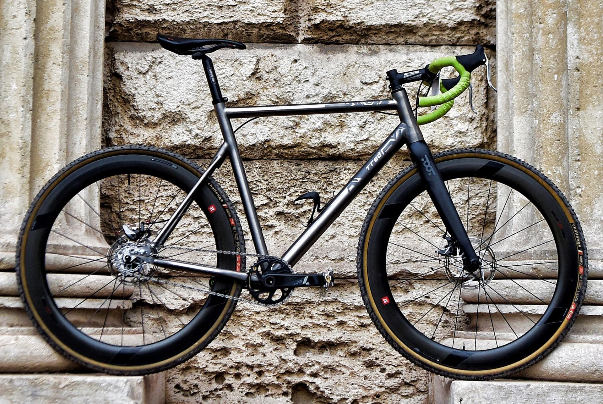 bici da ciclocross T°Red Camobeast titanio single speed, vista statica laterale destra