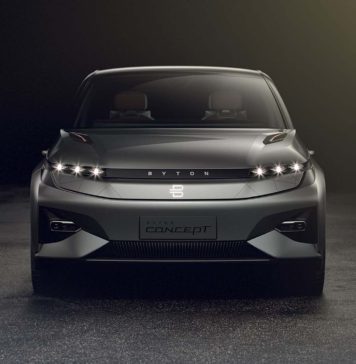 Byton Concept frontale