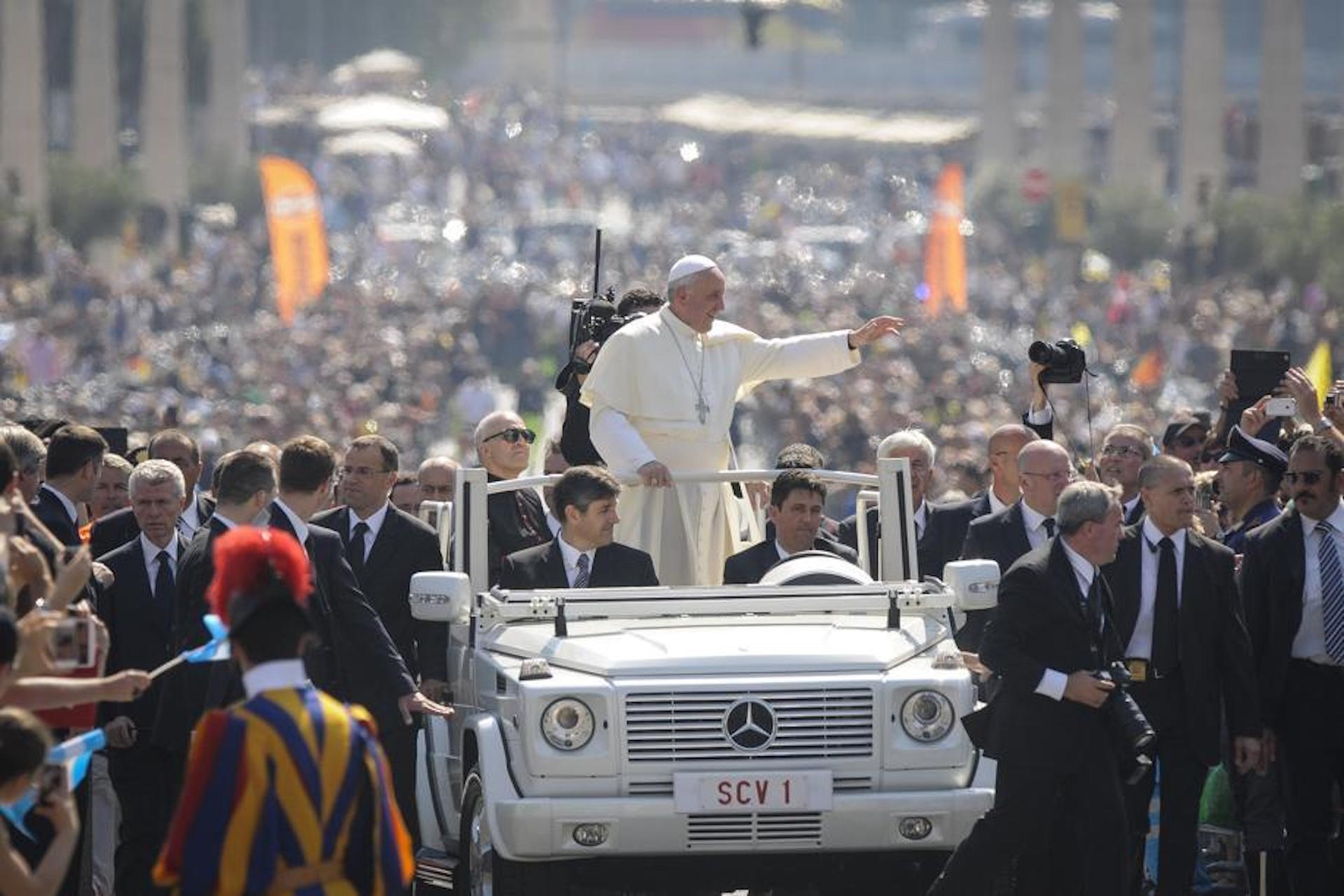 Mercedes Classe G Papa Francesco Papamobile