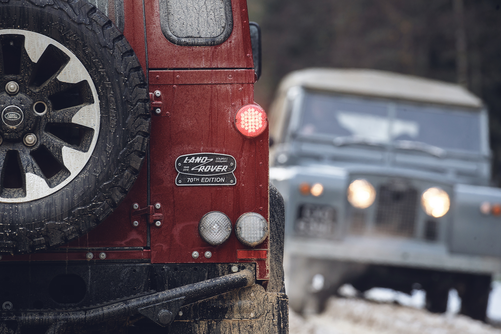 Land Rover Defender Works V8 coda targhetta identificativa
