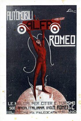 Pubblicità dell'epoca dell'Afa Romeo