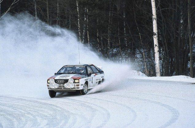 Audi Quattro Rallly sulla neve