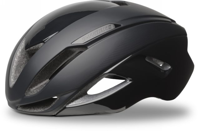 casco da bici specialized s-works evade colore nero, vista laterale