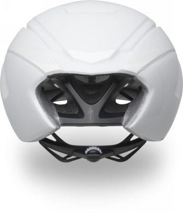 casco da bici specialized s-works evade colore bianco, vista posteriore