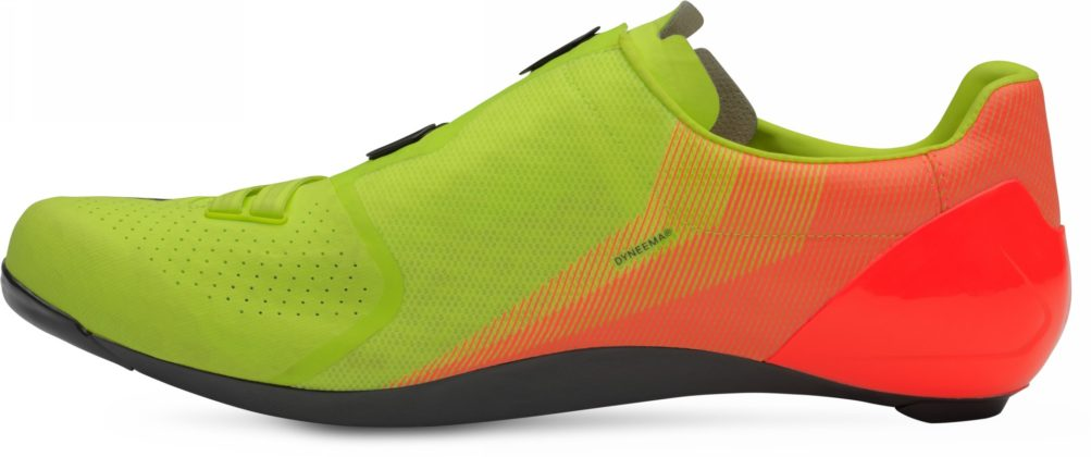 scarpe da bici specialized s-works 7, colore acid lava, vista laterale