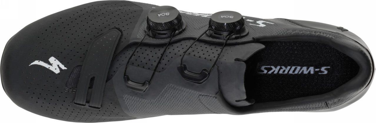 scarpe da bici specialized s-works 7, colore nero, vista superiore