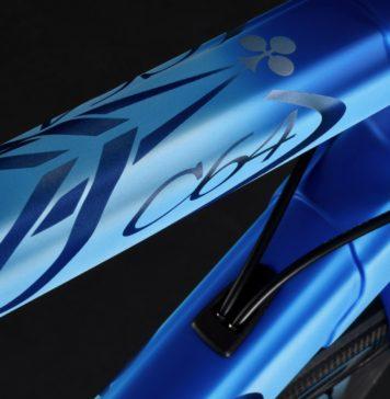 nuova colnago c64, particolare tubo orizzontale con logo