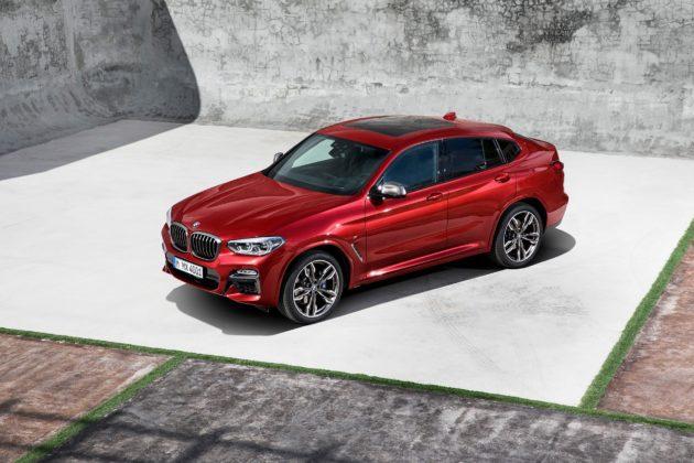 Nuova BMW X4 3/4 laterale anteriore sinistra statica