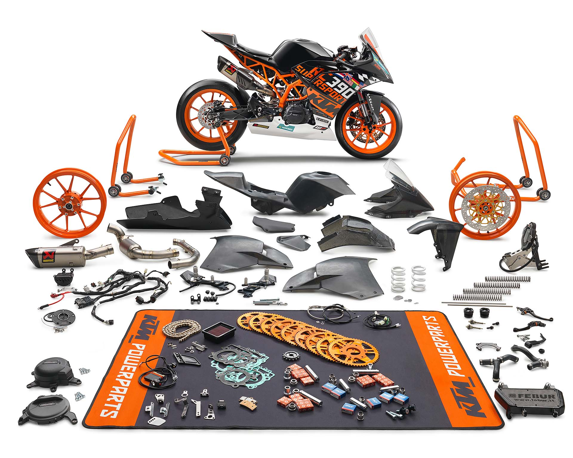 KTM RC 390 R race kit special parts