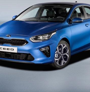 nuova kia ceed anteriore blu