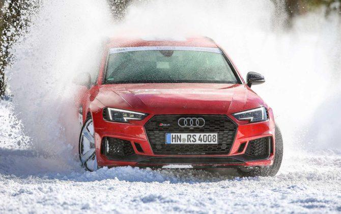 Audi RS4 2018 20Quattro Ore delle Alpi derapata sulla neve