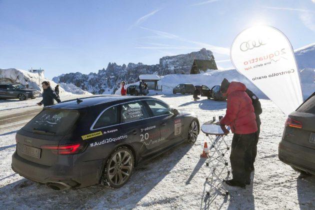 Audi RS4 2018 20Quattro Ore delle Alpi controllo orario