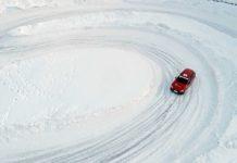 Audi RS4 2018 20Quattro Ore delle Alpi pista ghiacciata foto drone