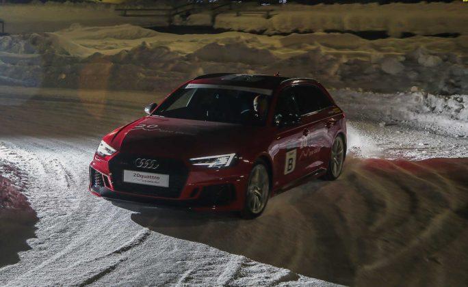 Audi RS4 2018 20Quattro Ore delle Alpi pista ghiacciata di notte
